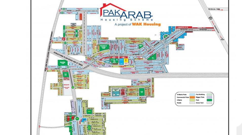 Pak Arab Housing Scheme Lahore master plan