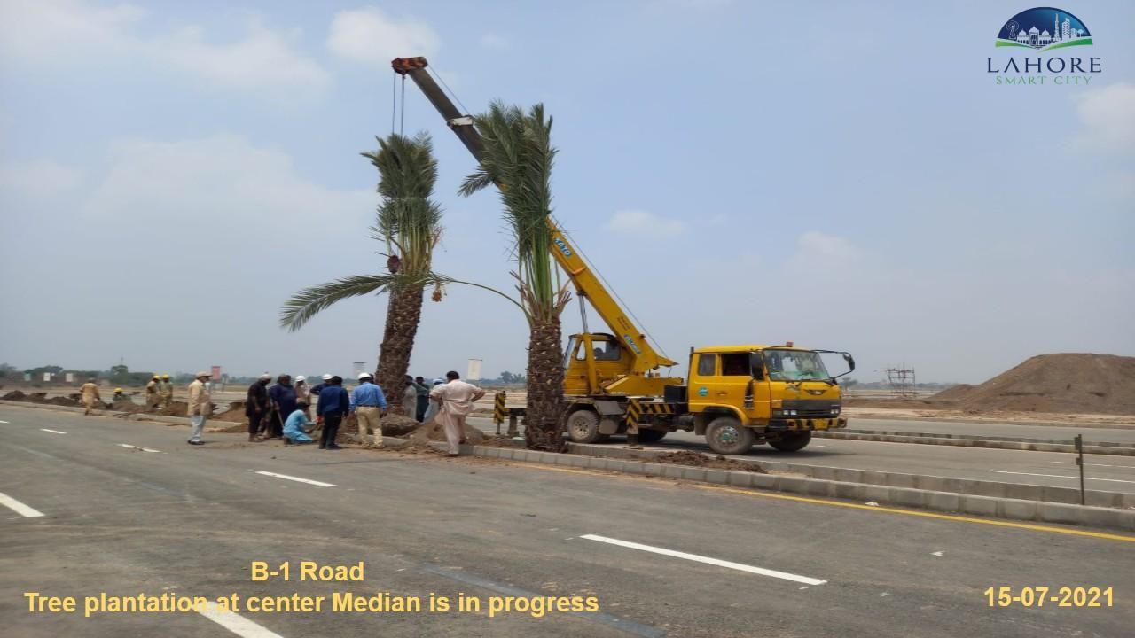 Lahore smart city Plantation in Progress