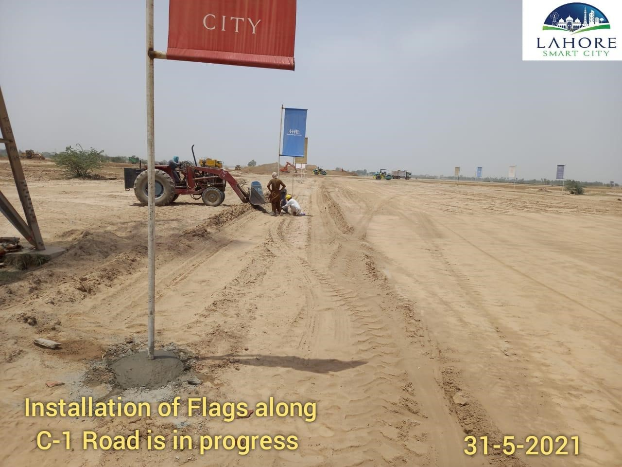 Installation of Flags lahore smart city